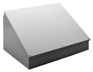 HOFFMAN C8C16SS CONSOLET, SLOPED COVER, BULLETIN C5S (STAINLESS STEEL CONSOLETS), SIZE/DIMS: 8.00X16.00X7.09, MATERIAL/FINISH: SS TYPE 304 COVER, BULLETIN C5S (STAINLESS STEEL CONSOLETS), SIZE/DIMS: 8.00X16.00X7.09, MATERIAL/FINISH: SS TYPE 304