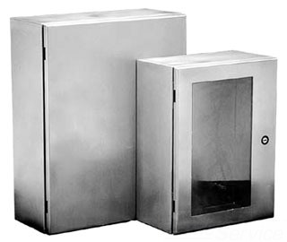 HOFFMAN CSD241610SS WALL-MOUNT TYPE 4/12 ENCLOSURE, BULLETIN CWS (STAINLESS STEEL CONCEPT ENCLOSURES), SIZE/DIMS: 24.00X16.00X10.00, MATERIAL/FINISH: SS TYPE 304 4/12 ENCLOSURE, BULLETIN CWS (STAINLESS STEEL CONCEPT? ENCLOSURES), SIZE/DIMS: 24.00X16.00X10.00, MATERIAL/FINISH: SS TYPE 304