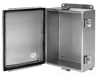 HOFFMAN A606CHEMCSS J BOX TYP 4X EMC, HINGED COVER, BULLETIN A51SE (STAINLESS STEEL EMC JUNCTION BOXES), SIZE/DIMS: 6.00X6.00X4.00, MATERIAL/FINISH: SS TYPE 304 EMC, HINGED COVER, BULLETIN A51SE (STAINLESS STEEL EMC JUNCTION BOXES), SIZE/DIMS: 6.00X6.00X4.00, MATERIAL/FINISH: SS TYPE 304