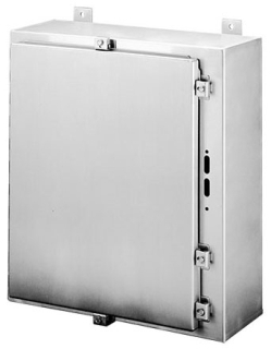 HOFFMAN A24HS2508SSLP TYPE 4X DISCONNECT ENCLOSURE, BULLETIN A19S (STAINLESS STEEL TYPE 4X DISCONNECT ENCLOSURES), SIZE/DIMS: 24.00X25.38X8.00, MATERIAL/FINISH: SS TYPE 304 DISCONNECT ENCLOSURE, BULLETIN A19S (STAINLESS STEEL TYPE 4X DISCONNECT ENCLOSURES), SIZE/DIMS: 24.00X25.38X8.00, MATERIAL/FINISH: SS TYPE 304