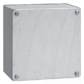 HFA664GSC GALVANIZED BOX / SCREW COVER, BULLETIN A90GS (GASKETED SCREW COVER TYPE 3R), SIZE/DIMS: 6.00X6.00X4.00, MATERIAL/FINISH: GALVANIZED, HOFFMAN