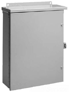HFA20R166HCR TYPE 3R ENCLOSURE, HNG COVER, BULLETIN A3M (HINGED COVER TYPE 3R MEDIUM ENCLOSURES), SIZE/DIMS: 20.00X16.00X6.00, MATERIAL/FINISH: GALV/PAINT, HOFFMAN