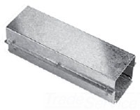 HFF66T124GV WW, TYPE 1, STRAIGHT SECTION, BULLETIN F40G (GALVANIZED TYPE 1 & 3R WIREWAY), SIZE/DIMS: 6.00X6.00X24.00, MATERIAL/FINISH: GALVANIZED, HOFFMAN