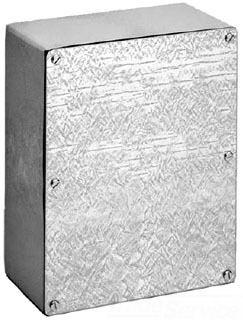 HFA18186GSC GALVANIZED BOX / SCREW COVER, BULLETIN A90GS (GASKETED SCREW COVER TYPE 3R), SIZE/DIMS: 18.00X18.00X6.00, MATERIAL/FINISH: GALVANIZED, HOFFMAN