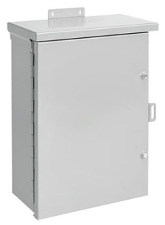 HFA30R308HCR TYPE 3R ENCLOSURE, HNG COVER, BULLETIN A3M (HINGED COVER TYPE 3R MEDIUM ENCLOSURES), SIZE/DIMS: 30.00X30.00X8.00, MATERIAL/FINISH: GALV/PAINT, HOFFMAN