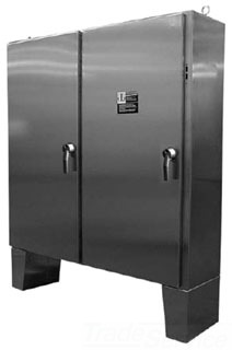 HOFFMAN A72X7318SSLPN4 TWO DOOR DISCONNECT N4X ENCL., BULLETIN A21S4 (STAINLESS STEEL TWO-DOOR 4X DISCONNECT ENCLOSURES), SIZE/DIMS: 72.12X73.75X18.12 , MATERIAL/FINISH: SS TYPE 304