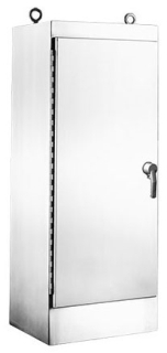 HOFFMAN A723024SSFSN4 ONE-DOOR FS ENCLOSURE TYPE 4X, BULLETIN A30S4 (STAINLESS STEEL FREE-STANDING TYPE 4 ENCLOSURES), SIZE/DIMS: 72.06X30.06X24.06, MATERIAL/FINISH: SS TYPE 304 ENCLOSURE TYPE 4X, BULLETIN A30S4 (STAINLESS STEEL FREE-STANDING TYPE 4 ENCLOSURES), SIZE/DIMS: 72.06X30.06X24.06, MATERIAL/FINISH: SS TYPE 304