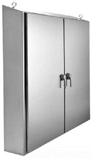 HOFFMAN WS626312SS FS TYPE 4X ENCLOSURE, BULLETIN WS2 (WATERSHED? FREESTANDING ENCLOSURES), SIZE/DIMS: 62.00X63.00X12.00, MATERIAL/FINISH: SS TYPE 304