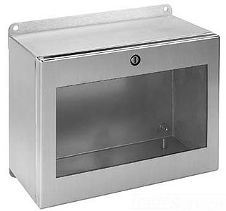 HOFFMAN LWC236016SS INST.BOX,TYP4X, HINGED WIN/CVR, BULLETIN A54S (STAINLESS STEEL INLINE INSTRUMENTATION ENCLOSURES), SIZE/DIMS: 230X600X155MM, MATERIAL/FINISH: SS TYPE 304 HINGED WIN/CVR, BULLETIN A54S (STAINLESS STEEL INLINE? INSTRUMENTATION ENCLOSURES), SIZE/DIMS: 230X600X155MM, MATERIAL/FINISH: SS TYPE 304