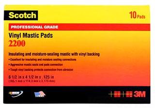 MMM2200-6-1/2X4-1/2 MASTIC PAD, 3M