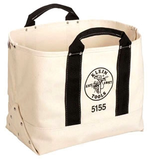 KLE5155 17'' (432 MM) CANVAS TOOL BAG, KLEIN TOOLS
