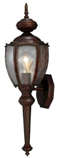 PROP5767-19 MEDIUM BASE LAMP; LAMP WATTAGE 100 W; LAMP NOT INCLUDED; REFRACTOR/LENS TYPE CLEAR SEEDED GLASS; BRONZE; SIZE 7 INCH DIA X 19 1/4 INCH H; PROGRESS LIGHTING[R] BRAND, PROGRESS