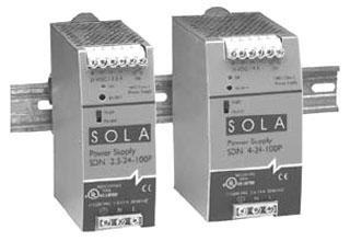 SOLASDN2.5-24-100P 60W 24V DIN P/S 115/230V IN, SOLA/HEVI DUTY