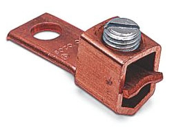 BLASTC1102 TYPE STC - COPPER SINGLE-CONDUCTOR, ONE HOLE MOUNT (STRAIGHT TANG) FOR CONDUCTOR RANGE 2 STR.-1/0 STR., BLACKBURN