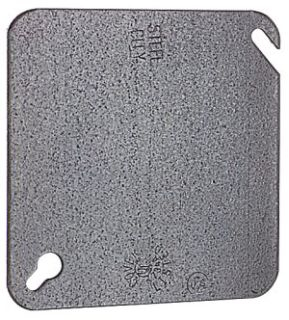 STC52C1 4 INCH PRE-GALVANIZED STEEL SQUARE BOX COVER, FLAT AND BLANK., STEEL CITY