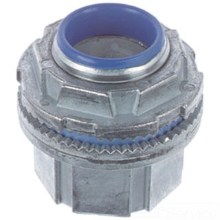 THBH075A 3/4 IN. ALUMINUM HUB CONNECTOR WITH THERMOPLASTIC INSULATING THROAT; SEALING RING-NITRILE (BUNA-N). FOR USE WITH RIGID/IMC CONDUIT., THOMAS & BETTS