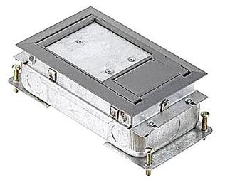 664-S RECTANGULAR; WIDTH 4-11/16 INCH; DEPTH 2-7/8 INCH; 1-1/2 INCH PRE-POUR, 3/4 INCH POST-POUR ADJUSTMENT; REINFORCED STAMPED GALVANIZED 14 GAUGE STEEL; 6 KNOCKOUT(S); KNOCKOUT SIZE 3/4 INCH CONDUIT SIDES; SERVICE TYPE CONCEALED; CAPACITY 70 CU INCH