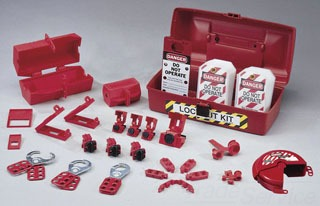 IDEAL 44-972 IDEAL; LOCKOUT OR TAGOUT KIT; PLANT FACILITY; MATERIAL: POLYPROPYLENE; NUMBER OF PIECES: 36; INCLUDES: (5) 44-810 HINGED SINGLE-POLE BREAKER LOCKOUTS, (3) 44-809 UNIVERSAL 277V BREAKER/SINGLE POLE LOCKOUTS, (1) 44-807 480/600V BREAKER LOCKOUT, (2) 44-789