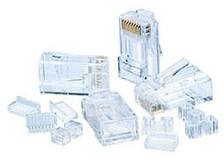 IDL85-366 CAT 6 MODULAR PLUG, RJ45, 25PC, IDEAL INDUSTRIES