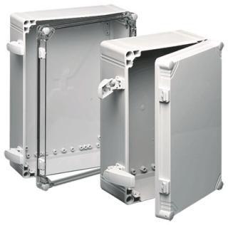HOFFMAN Q604013PCIQRR J BOX TYPE 4X / QR COVER, BULLETIN Q41 (QLINE POLYCARBONATE AND ABS TYPE 4X ENCLOSURES), SIZE/DIMS: 600X400X123MM, MATERIAL/FINISH: POLYCARB