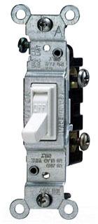 LEV1451-2W SP 15A 120V WHT AC SW, LEVITON