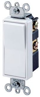 LEV5601-2W SP WHT 15A SWITCH,LEVITON
