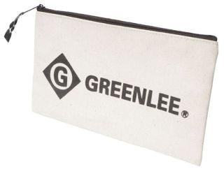 GRT0158-14 12 CANVAS ZIPPER BAG, GREENLEE