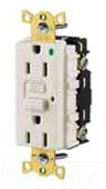 HUBBELL GFR8300HLA POWER PROTECTION PRODUCTS, RECEPTACLE, GFCI, COMMERCIAL HOSPITAL GRADE,LED INDICATOR, 20A 125V, 2-POLE 3-WIRE GROUNDING, 5-20R, BROWN