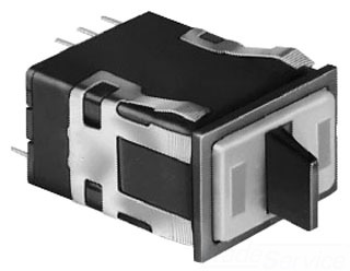 SELAML25GBF2CA02RG MICROSWITCH PADDLE HANDLE; 125/250 VAC, 24 VDC; 2 AMPERE AT 250 VAC/24 VDC, 3 AMPERE AT 125 VAC; OPERATION TYPE MOMENTARY/MAINTAINED; CONTACT CONFIGURATION DPDT; 0.45 INCH TOGGLE LENGTH; SNAP IN SURFACE/SUB PANEL MOUNTING