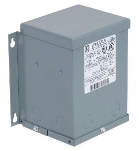 SQUARE D 2S82F BUCK AND BOOST TRANSFORMER 240 X 480VAC, 24/48VAC, 2KVA, 115 DEGREES C