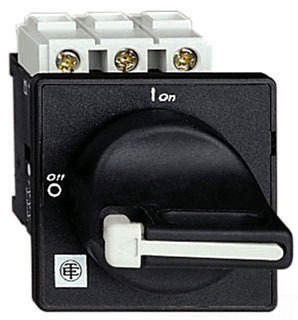 SQUARE D AND TELEMECANIQUE VBD01 SWITCH-DISCONNECTOR VBD - 3 - 690 V 20 A - PADLOCKABLE BLACK HANDLE