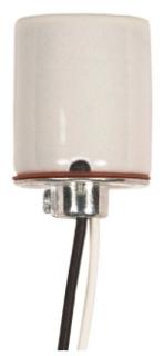 SAT80/1614 GLZ MED SKT 4KV W/CAP, SATCO