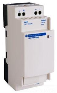 SQD SCHNEIDER-ELECTRIC ABL8MEM24006 MODULAR POWER SUPPLY 100 TO 240 VAC, 24 VDC, 15 W, 0.6A