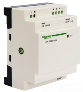 SCHNEIDER ELECTRIC ABL7RM24025 SCHNEIDER ELECTRIC,PHASEO POWER SUPPLY 24VDC 2.5AMP ABL7,#14 TO #26 AWG,100 TO 240 VAC,2.5A,24 VDC,60 W,DIN RAIL / PANEL,PHASEO