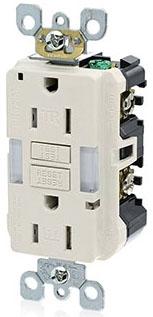 LEVX7592T 15A-125V TR DUPLEX LED GUIDE LIGHT LEVITON X7592-T LIGHT ALMOND