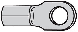 THBC36 NON-INSULATED RING TERMINAL FOR WIRE RANGE 12-10 STUD SIZE #10, METALLIC, THOMAS & BETTS
