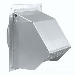 BRO641FA ALUMINUM FRESH AIR INLET WALL CAP FOR 6