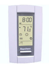 RAYQUICKSTAT-TC ELECTRONIC THERMOSTAT WITH GFCI, TYCO THERMAL