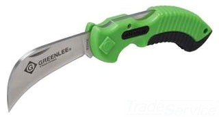 GRT0652-27 2.63 INCH BLADE LENGTH; 440C STAINLESS STEEL BLADE MATERIAL; PLASTIC/RUBBER HANDLE; HANDLE SIZE 4 INCH; BLADE SAFETY LOCK-BACK, GREENLEE