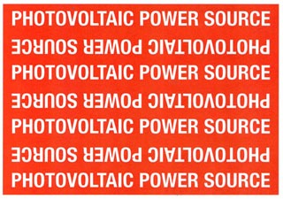 TYT596-00208 POWER SOURCE MARKER,PHOTOVOLTAIC POWER SOURCE, TYTON (PACK OF 25 LABELS)