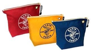 KLE5539CPAK 55264 5539CPAK 3-PACK CONSUMABLE ZIPPER BAGS, CANVAS, ASSORTED COLORS, 10