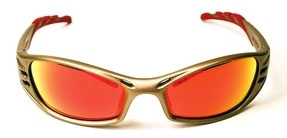 MMM11640-00000-10 3M FUEL SAFETY GLASSES RED MIRROR LENS METALLIC SAND FRAME #11640-00000-10