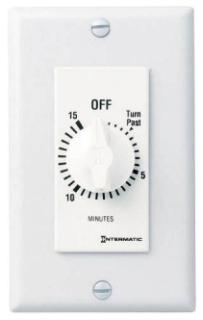 ITMFD15MWC SPRING WOUND TIMER,15 MIN,WH, SPST