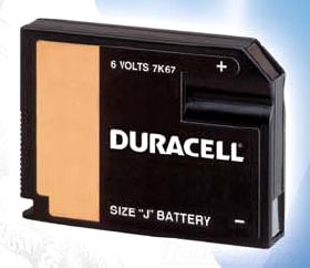 DURACELL 7K67BPK 6.0 VOLT FLAT-PAK DU HOME MEDICAL