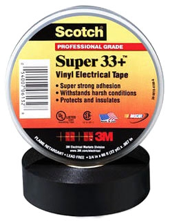 "33+SUPER-3/4X66FT : VINYL TAPE 3/4"" X 66' : UPC 05400706132"