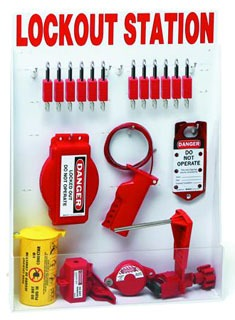 BRADY 99699 LARGE LOCKOUT STATION, W/SAFETY LOCKS