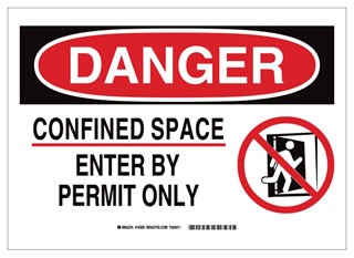 BRADY 19197 B302 SAFETY SIGN 10X14 BLK/RED/WHT