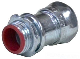 TOPAZ 657SI EMT CONNECTORS - COMPRESSION TYPE - STEEL INSULATED THROAT