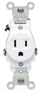 LEVITON 5015-T 15A SINGLE OUTLET