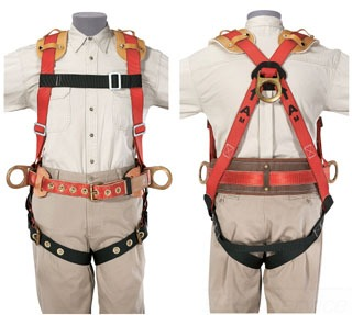 KLEIN 87832 HARNESS, FULL-BODY, IRONWORKER W/ NCP, FA/POS, 3 D-RINGS, X-LARGE